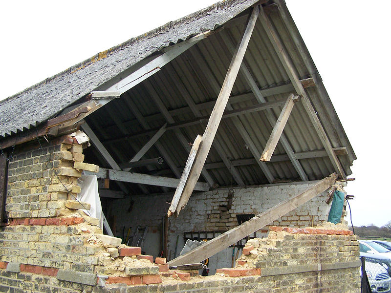 Storm Damage To Farm Outbuilding